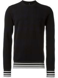 свитер с контрастными полосками   Oamc