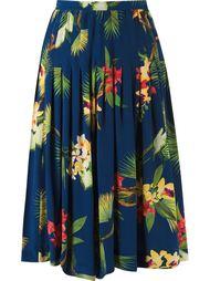 midi pleated floral skirt Isolda