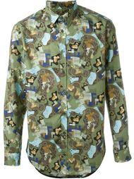 рубашка с абстрактным принтом MSGM