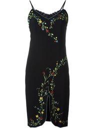 платье с цветочной вышивкой Moschino Vintage
