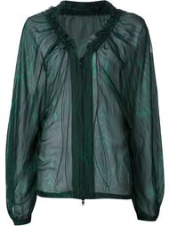 прозрачная блузка на молнии Ann Demeulemeester