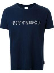 футболка с принтом логотипа  Cityshop