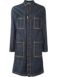 джинсовое пальто с контрастной строчкой Dsquared2