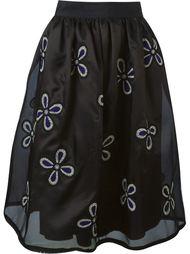 юбка с цветочной вышивкой  Jupe By Jackie