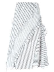 полосатая юбка с бахромой Cédric Charlier