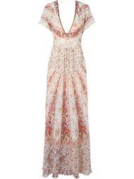 вечернее платье с цветочным принтом   Etro
