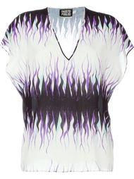 футболка с V-образным вырезом Fausto Puglisi