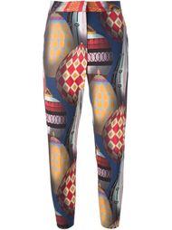 брюки с принтом MSGM