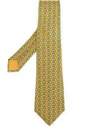 галстук с принтом головного убора аборигенов Hermès Vintage