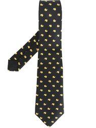 галстук с принтом улиток Hermès Vintage