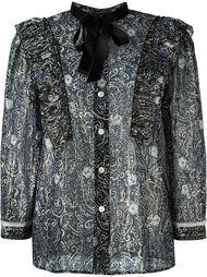 прозрачная блузка с узором Marc Jacobs