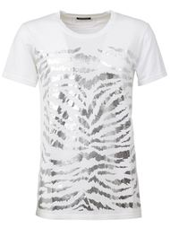 футболка с зебровым принтом  Balmain