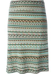 юбка с графическим принтом Emilio Pucci Vintage
