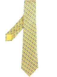 галстук в диагональную полоску Hermès Vintage