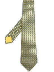галстук с сетчатым принтом Hermès Vintage