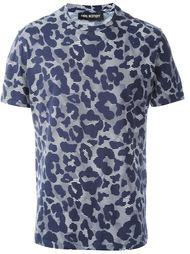 футболка с леопардовым принтом   Neil Barrett