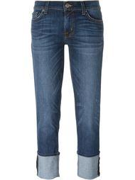 подвернутые снизу джинсы Hudson