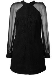 платье с прозрачными рукавами Saint Laurent