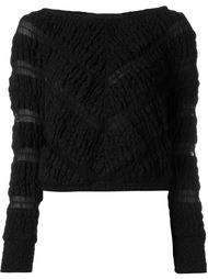 укороченный свитер с узором Jay Ahr