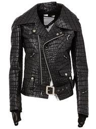 байкерская куртка  с эффектом крокодила Junya Watanabe Comme Des Garçons