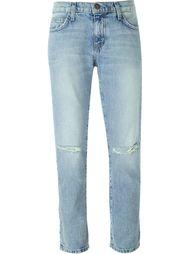 джинсы с рваными деталями   Current/Elliott