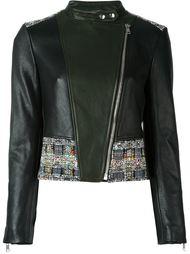 байкерская куртка с твидовыми панелями Alexander McQueen