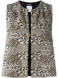 жаккардовый жилет Chanel Vintage