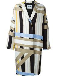 пальто колор-блок  MSGM