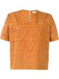 футболка с перфорированным дизайном  Fendi