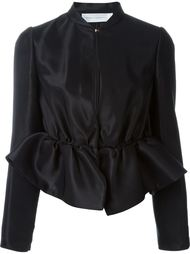 пиджак с рюшами и баской Victoria Victoria Beckham