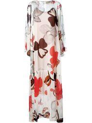 платье макси с крупными цветами Erika Cavallini