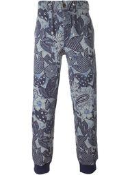 спортивные брюки с цветочным принтом  Etro