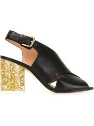 босоножки на каблуке с блестками Maison Margiela