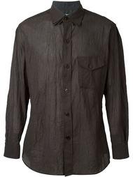 рубашка с тройным воротником Yohji Yamamoto