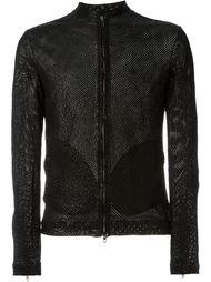 кожаная куртка с перфорацией Salvatore Santoro