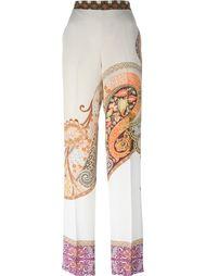 широкие брюки с принтом пейсли  Etro
