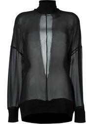прозрачная блузка  Ann Demeulemeester