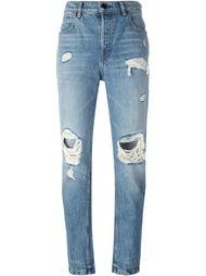 джинсы с декоративными потертостями Alexander Wang
