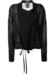 куртка с прозрачными рукавами  Ann Demeulemeester