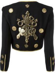 пиджак в стиле милитари с вышивкой Moschino Vintage