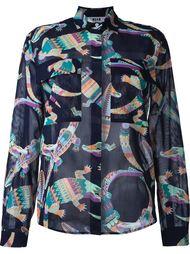 блузка с абстрактным принтом MSGM