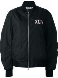 куртка-бомбер с заплаткой-логотипом Gcds