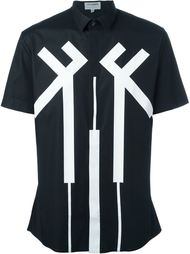 футболка с контрастным принтом  Les Hommes Urban