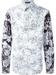рубашка с цветочным принтом   Versace