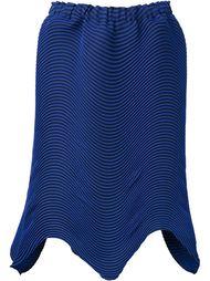 плиссированная юбка с неравномерным подолом Issey Miyake