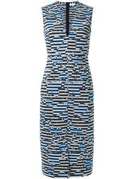 полосатое облегающее платье с V-образным вырезом Scanlan Theodore