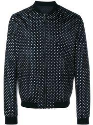 двусторонняя куртка бомбер в горох Dolce & Gabbana