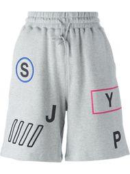 спортивные шорты с принтом букв Steve J & Yoni P