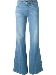 выбеленные расклешенные джинсы  Current/Elliott