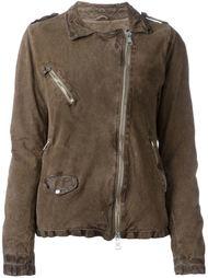 куртка на молнии с потертой отделкой Giorgio Brato